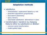 adaptation methods