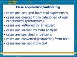 case acquisition authoring