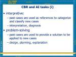 cbr and ai tasks i