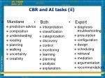 cbr and ai tasks ii