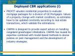 deployed cbr applications i