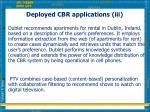deployed cbr applications iii