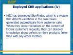 deployed cbr applications iv