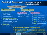 related research characterization impact analysis