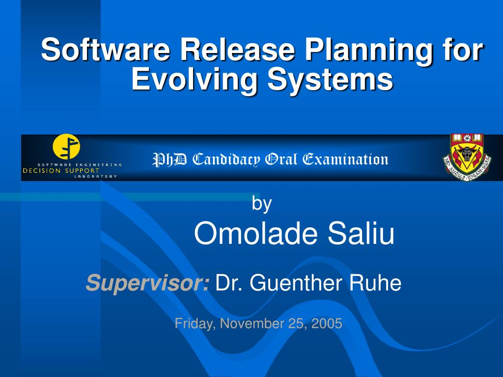 software release planning for evolving systems l.