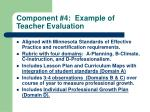 component 4 example of teacher evaluation