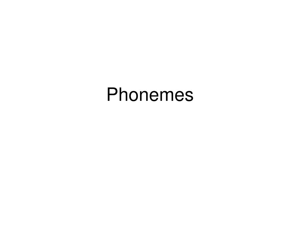 phonemes l.