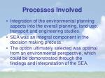 processes involved