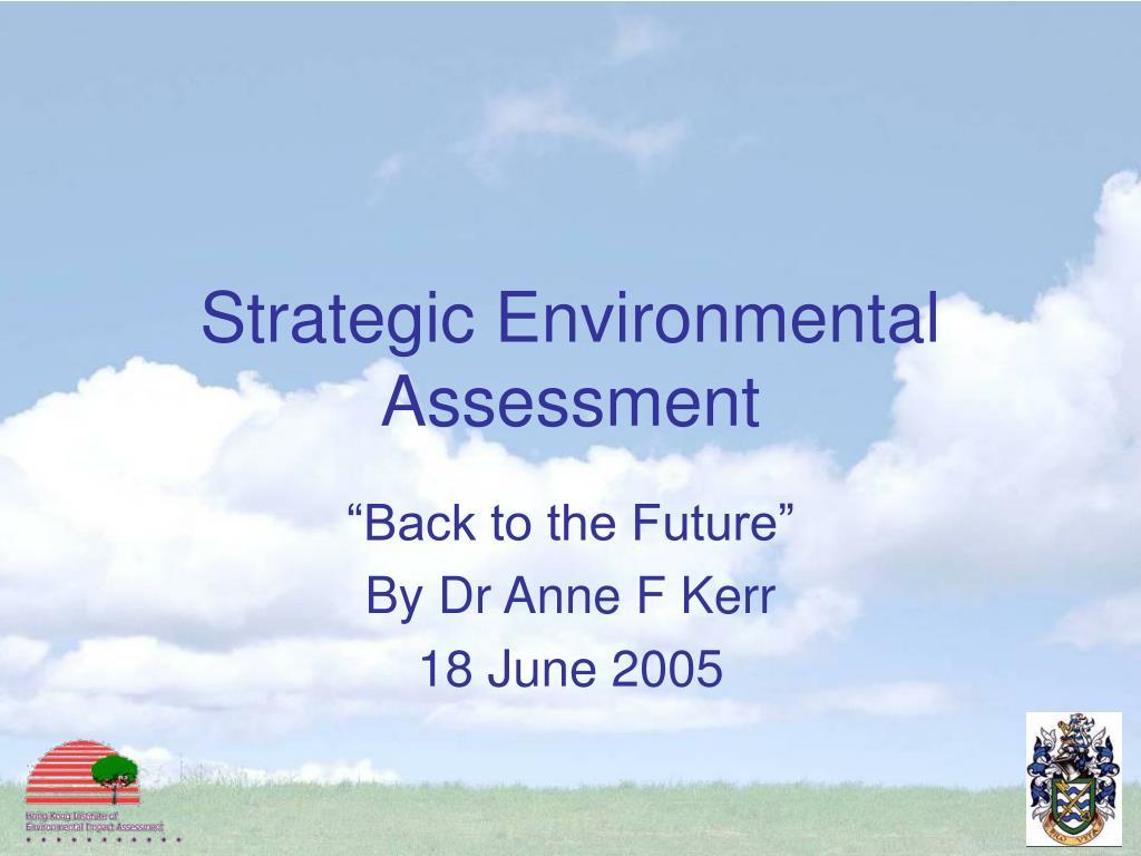 strategic environmental assessment l.