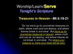 worship learn serve tonight s scripture