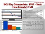 bos key measurable ppm steel can assembly cell