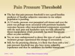 pain pressure threshold