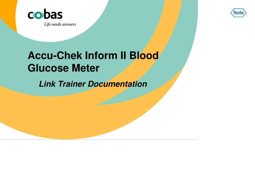 accu chek inform ii blood glucose meter l.