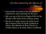 iii encountering the queen of heaven