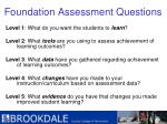 foundation assessment questions