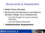 governance assessment