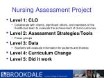 nursing assessment project