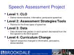 speech assessment project