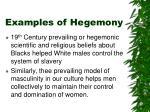 examples of hegemony