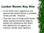locker room key site