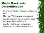 media backlash objectification