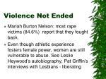 violence not ended