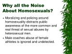 why all the noise about homosexuals