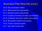 business plan req mts cont