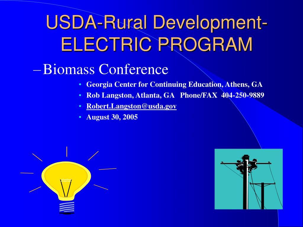 usda rural development electric program l.