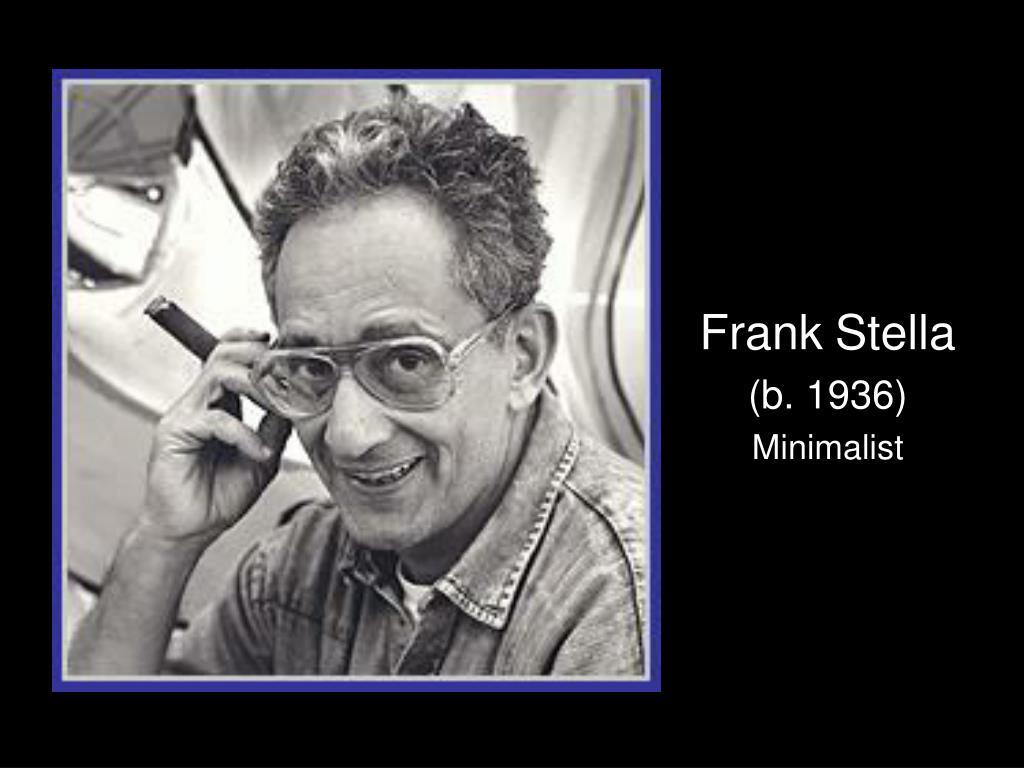 frank stella b 1936 minimalist l.