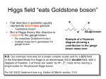 higgs field eats goldstone boson