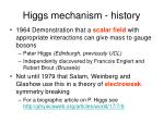 higgs mechanism history