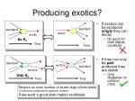 producing exotics