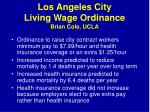 los angeles city living wage ordinance brian cole ucla