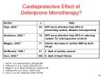cardiopr o tective e ffect of d eferiprone m onotherapy