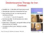 desferrioxamine therapy for iron overload