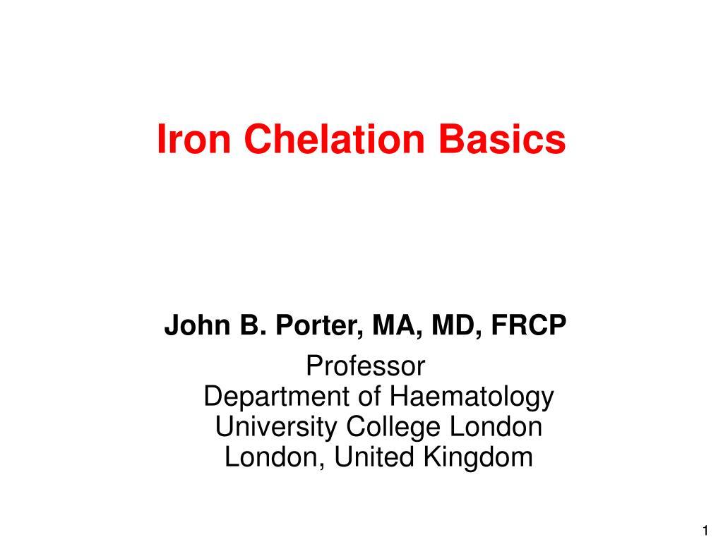 iron chelation basics l.