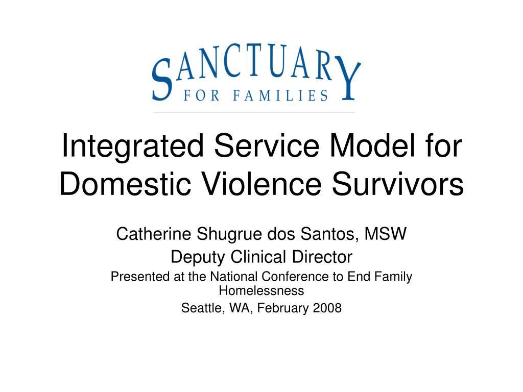 integrated service model for domestic violence survivors l.