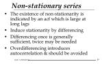 non stationary series