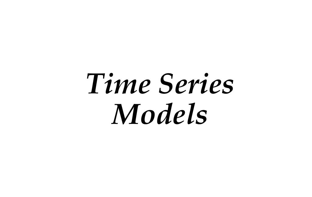 time series models l.