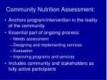 community nutrition assessment