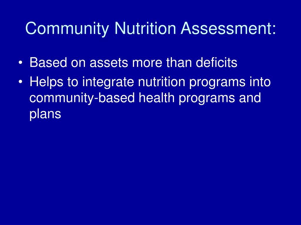 PPT - Program Planning: Community