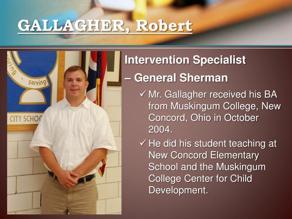 GALLAGHER, Robert