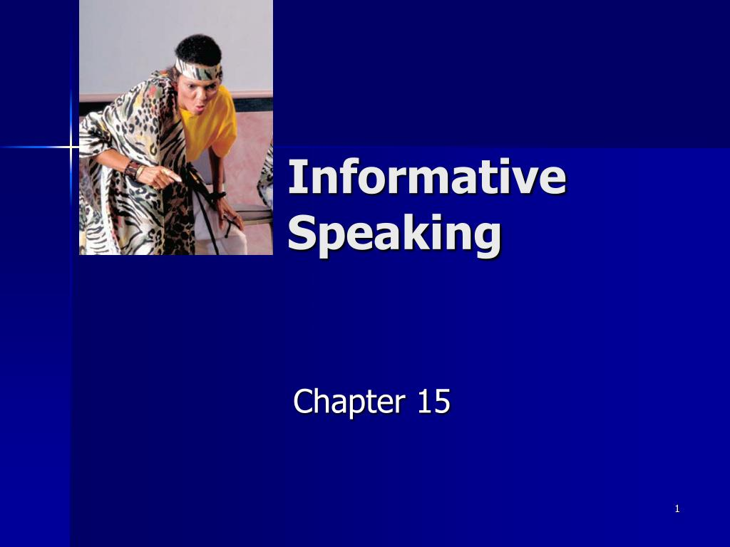 informative speaking l.