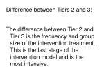 difference between tiers 2 and 3