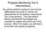 progress monitoring tier 3 interventions