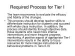required process for tier i61