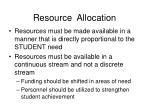 resource allocation9