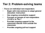 tier 2 problem solving teams