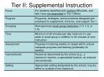 tier ii supplemental instruction75